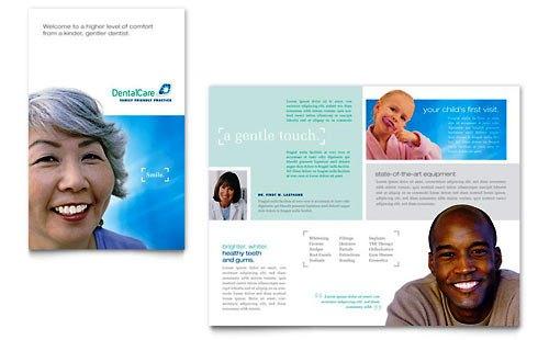 Desain Brosur Pamflet Kesehatan dan Medis - Contoh-Pamflet-Brosur-Perawatan-Kesehatan-Gigi