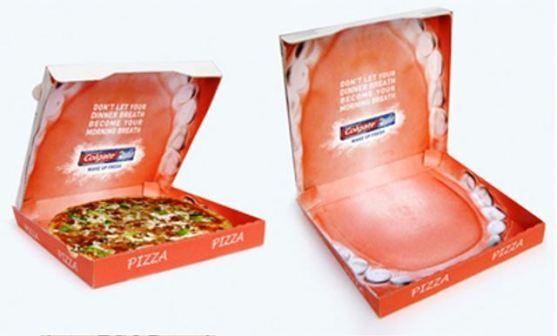Desain Kemasan Pizza Unik Menarik Inspiratif - Gambar-Foto-Desain-Box-Kemasan-Pizza-Model-Mulut-Terbuka