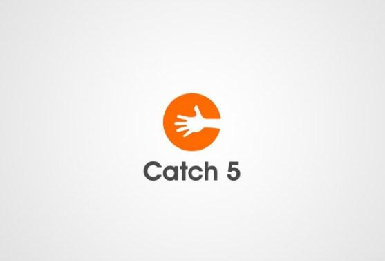 Logo dengan Desain Spasi Negatif - Logo-Catch-5