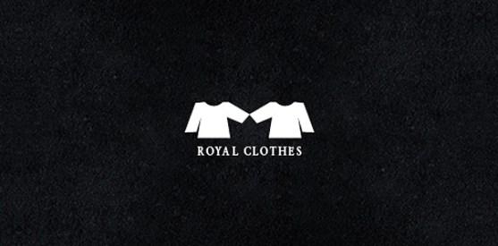 Logo dengan Desain Spasi Negatif - Logo-Royal-Clothes