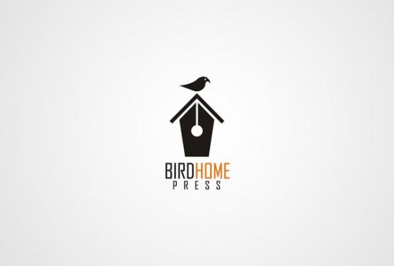 Logo dengan Desain Spasi Negatif - Logo-Rumah-Penerbitan-Bird-Home