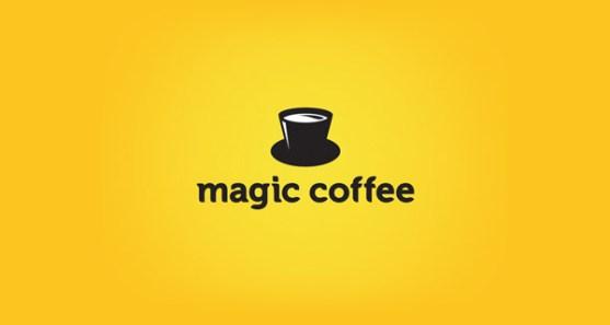 48 Contoh Logo dengan Simbol Tersembunyi - Magic-Coffee-Logo