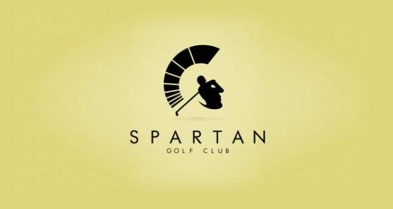 48 Contoh Logo dengan Simbol Tersembunyi - Spartan-Golf-Club-Logo