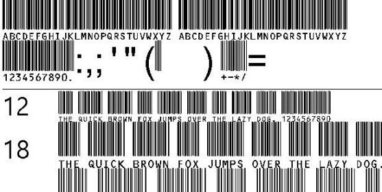 30 Best Font Barcode Download Free - C39HrP48DhTt (TrueType)
