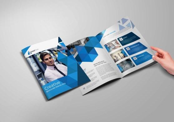 Membuat Desain Brosur untuk Usaha - Abstract-Corporate-Bi-fold-Brochure