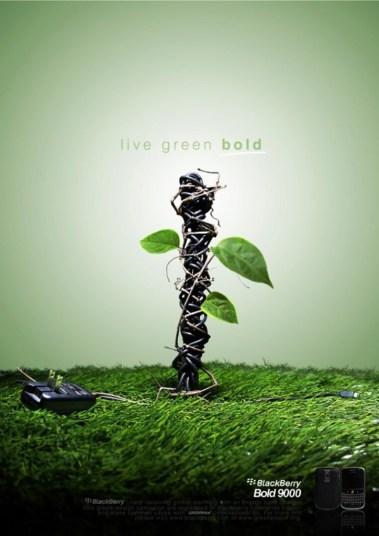 33 Contoh Poster Adiwiyata Go Green Lingkungan Hidup Hijau - BLACKBERRY-9000-LIVE-GREEN-BOLD