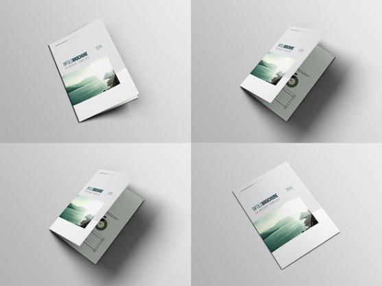 Cara Membuat Desain Brosur yang Menarik - Brosur Lipat 4 Mockup