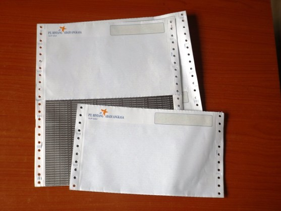 Continuous Form Surat Jalan Invoice dan Slip Gaji - Continuous Form Paper Percetakan Ayu DSCF2364