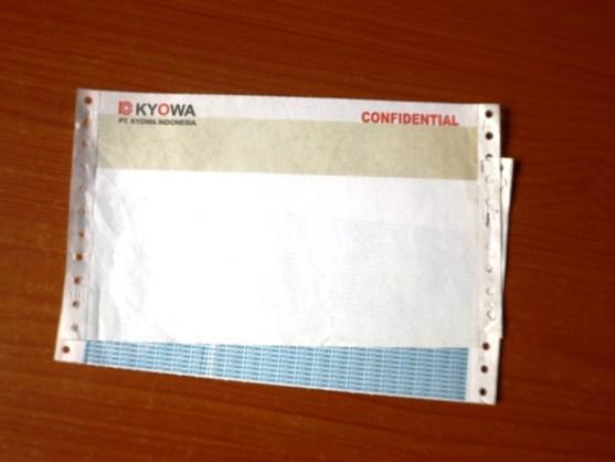 Continuous Form Surat Jalan Invoice dan Slip Gaji - Continuous Form Paper Percetakan Ayu DSCF2365