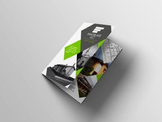 Membuat Desain Brosur untuk Usaha - Estate-agents-bifold-brochure-and-business-cards