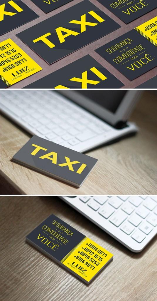 Desain Kartu Nama Bisnis Taksi - Kartu Nama Taxi - Taxi Business Card 1