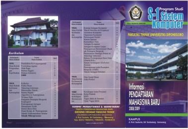 Desain Brosur Kampus Universitas Terbaik - Teknik Elektro Universitas Diponegoro