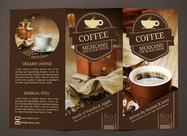 Brosur Kafe Kopi Pilihan Desain Bagus Untuk Bsnis Coffee Shop Andaayuprint Co Id