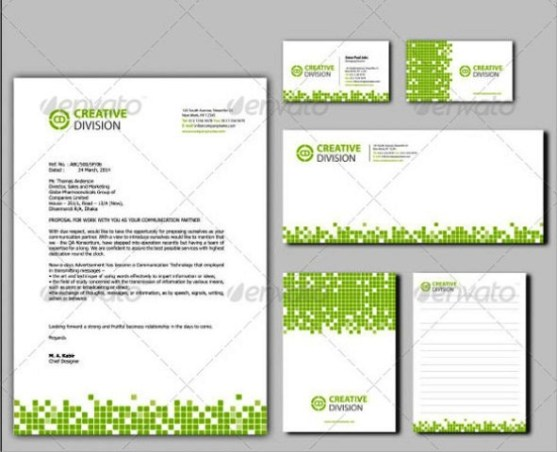 Desain kop surat free download template