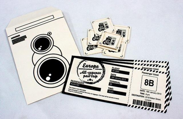 Contoh Desain Tiket