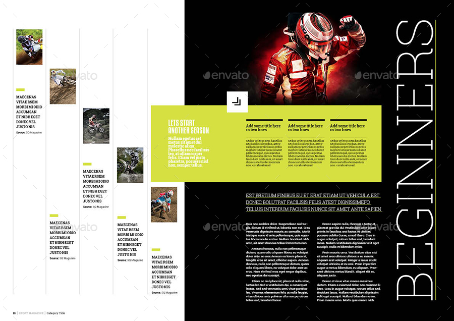 Desain Template Majalah Olahraga