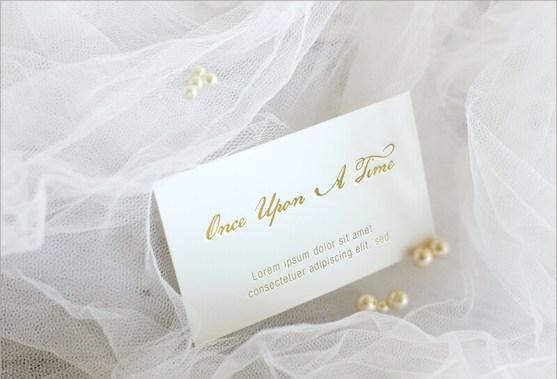 Elegant card mockup