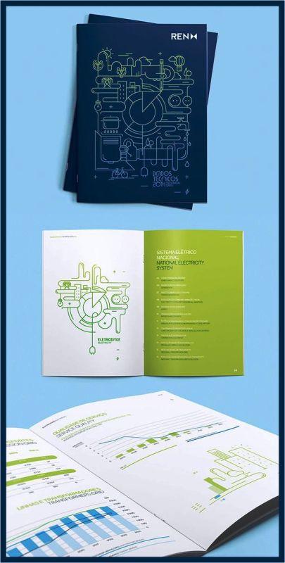 Contoh inspirasi desain brosur ide template