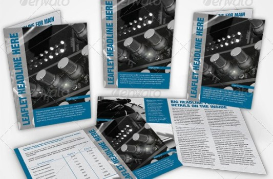 33 contoh desain brosur dan leaflet bisnis desain terbaik