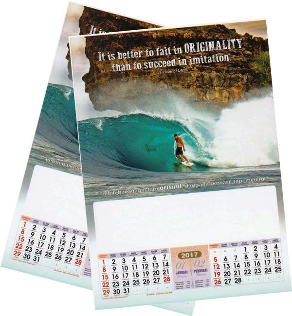 Kalender 2017 inspirasi motivasi AO dengan desain profesional