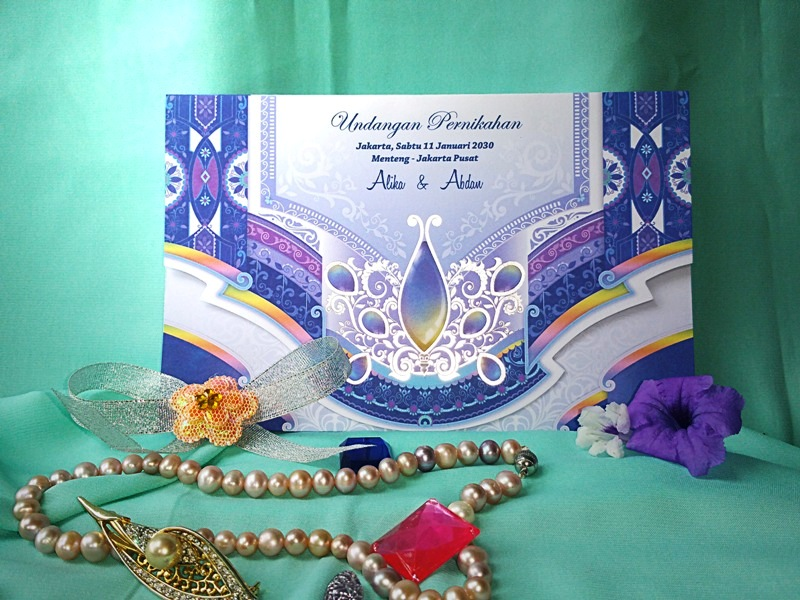 Blangko Undangan Rain Card Color Fun Wedding Invitation
