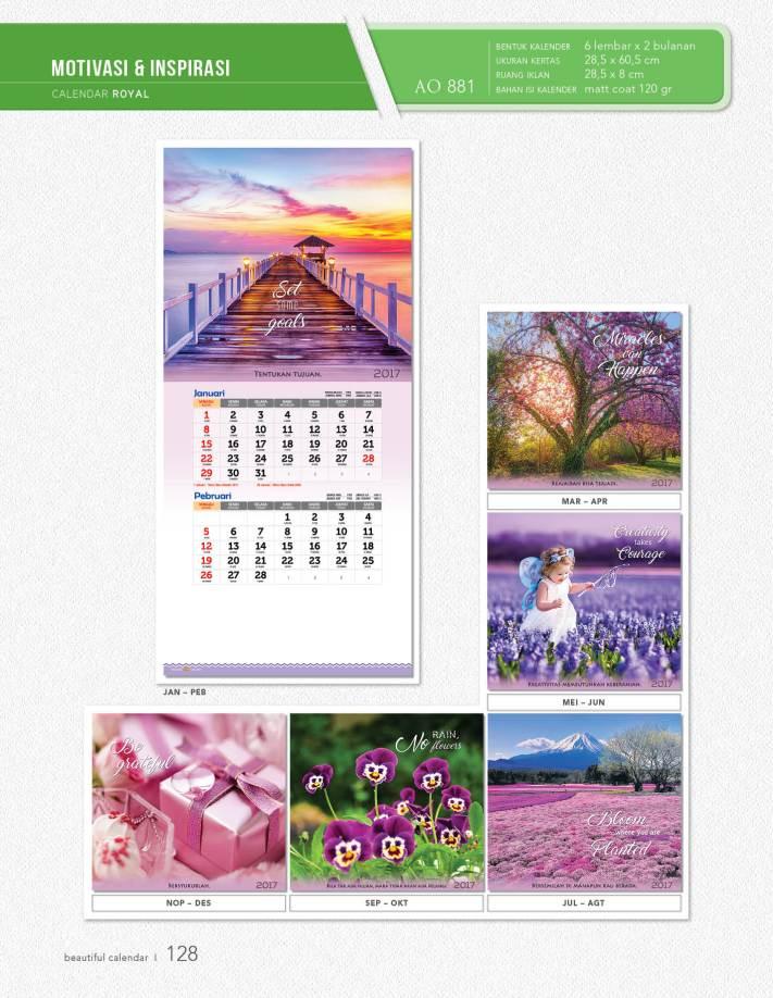 Kalender Dinding Royal Standard AO