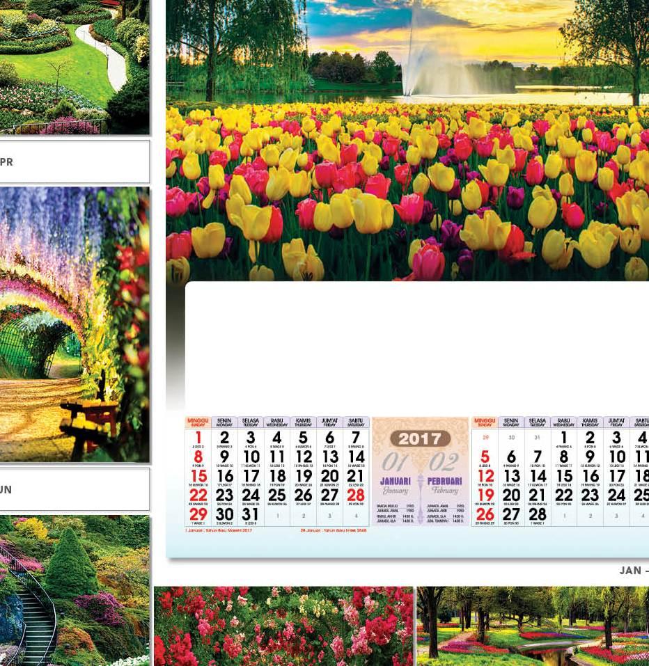 Daftar Harga Kalender 2017 Blanko Desain AO Terbaru plus cetak sablon 1 warna