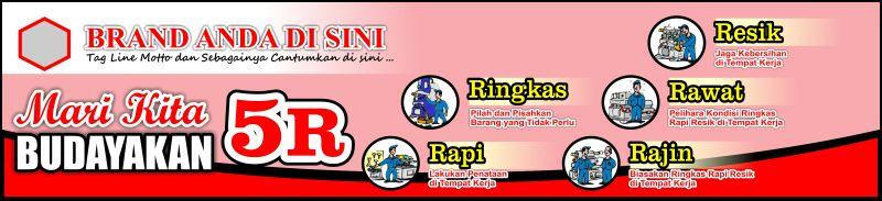 Spanduk 5S 5R Seiri Seiton Indonesia Free