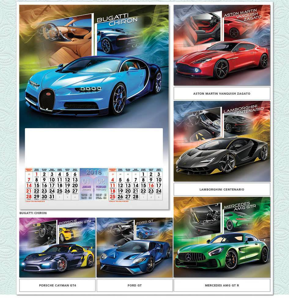 Kalender Dinding 2018 Full Design Standard Libur Nasional Cuti Bersama