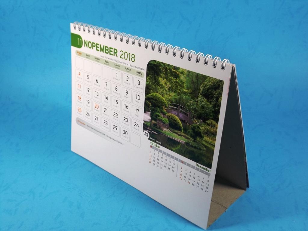 Kalender Meja 2018 AO 917 Taman Jepang