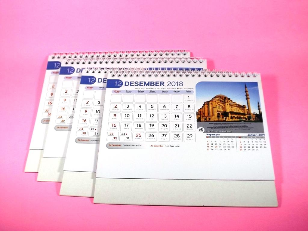 Kalender meja 2018 bergambar masjid dunia AO 926 DSCF7715 ...