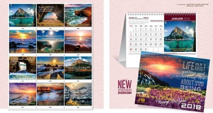 Kalender Meja 2018 Ayuprint Standard Special Exclusive Executive