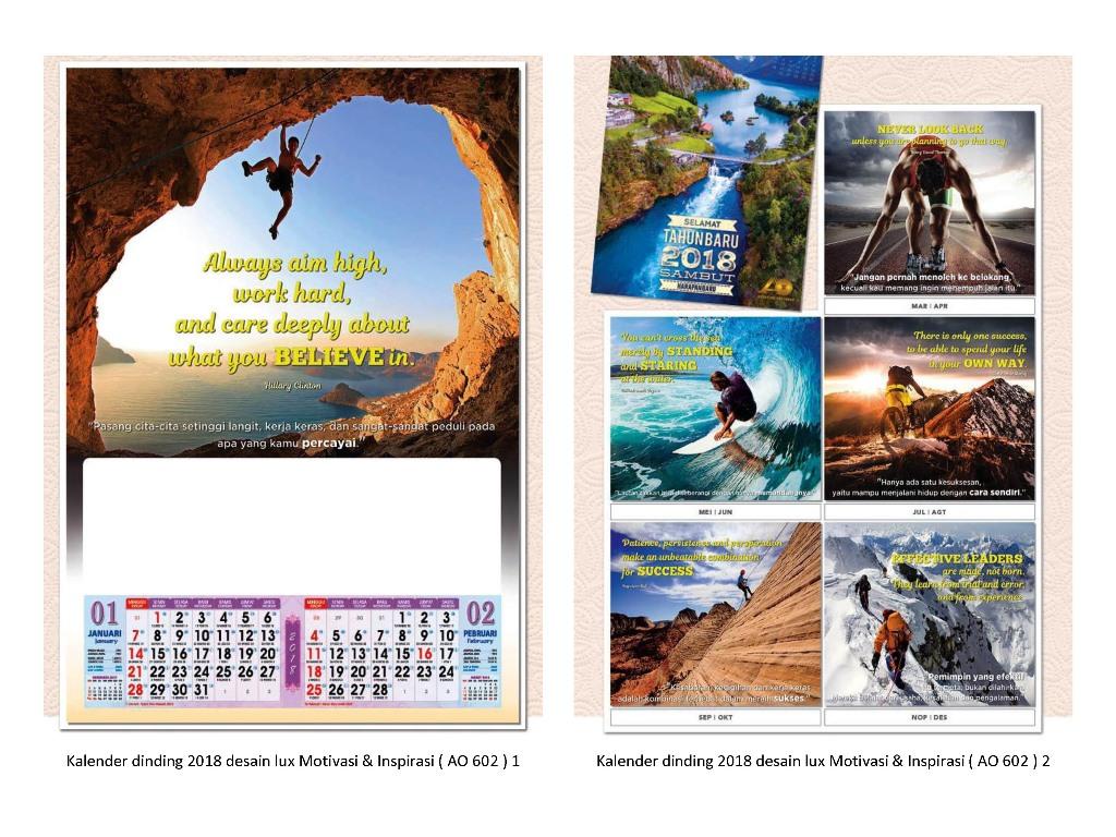 58+ Desain Kalender Satu Lembar