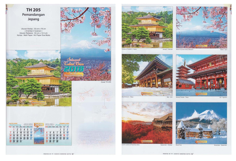 Kalender TH Dinding 2018 Cahaya Harapan Satya Ukuran 53×76 cm