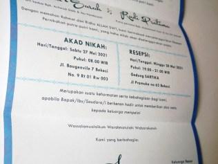 Undangan Pernikahan Blangko Flower Card Wedding Invitations