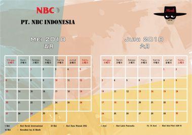 Produk Kalender Meja 2018 PT NBC File Template Free Download