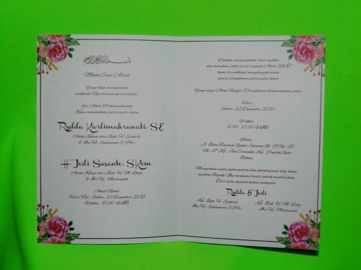 Three Diamonds Card Wedding Invitations