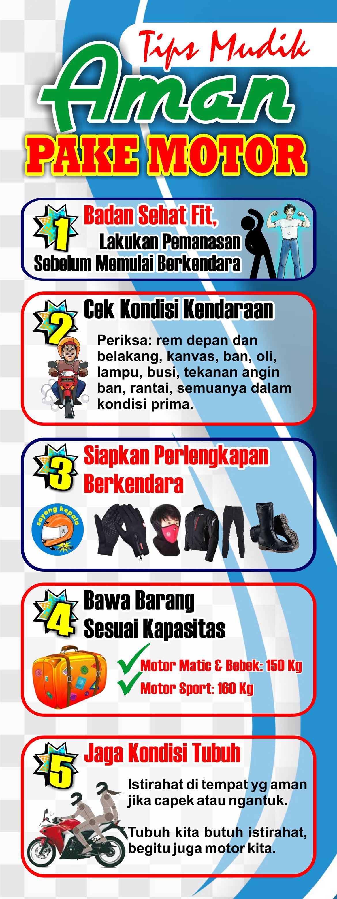 3 Standing Banner Tips Mudik Lebaran Desain Cantik Free Download