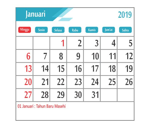 Kalender 2019 Lebaran Idul Fitri