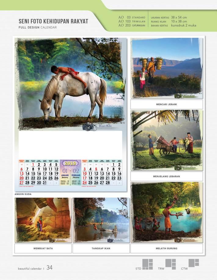 Kalender 2019 AO Full Desain Standar