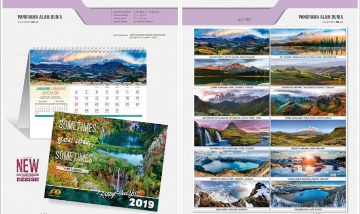 Kalender Meja 2019 dengan 32 Desain Standard Special Exclusive Executive Jumbo