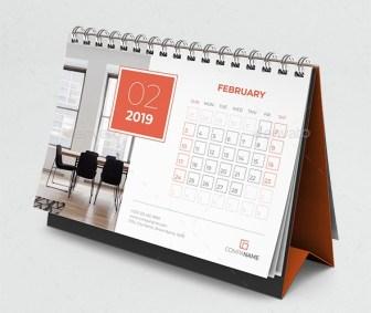 Template Desain Kalender Meja 2019 PSD AI InDesign ...