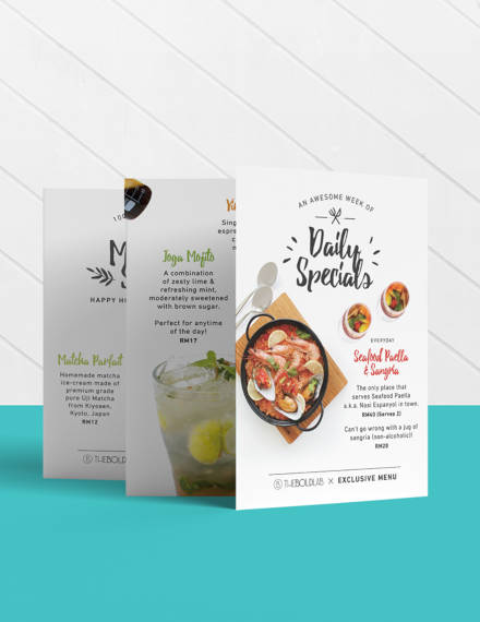 10+ Desain Template Menu Kafe Download Free dan Premium