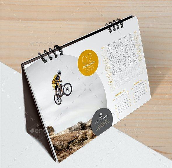 Template Desain Kalender Meja