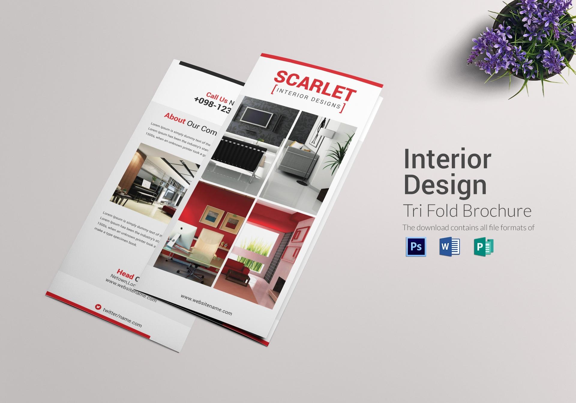 9 Template Brosur Interior dengan Desain Serba Minimalis