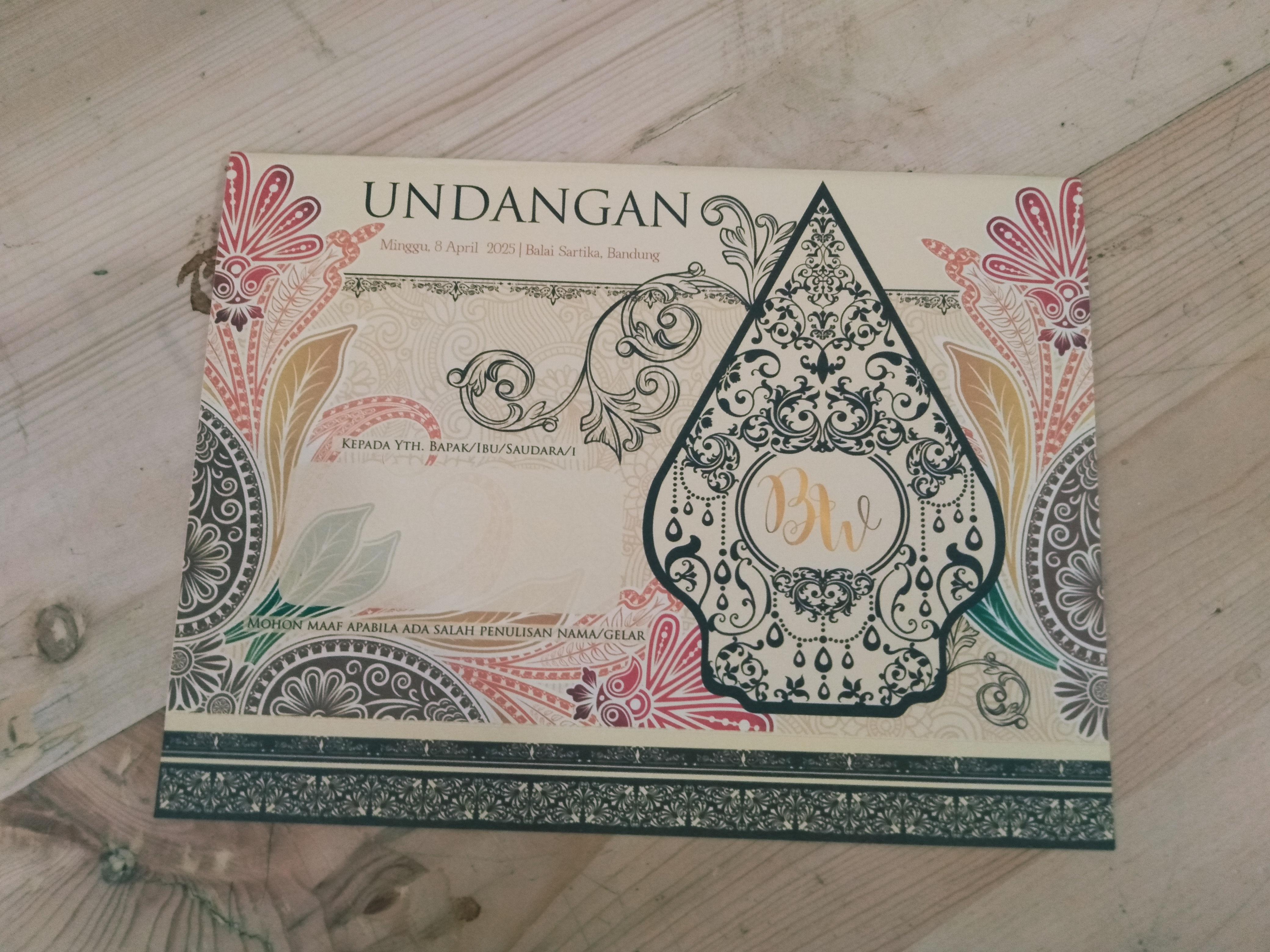 Art Color Card ACC: Undangan Pernikahan Blangko Karawang