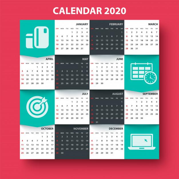 kalender 2020 download free vector premium wall  u0026 desktop