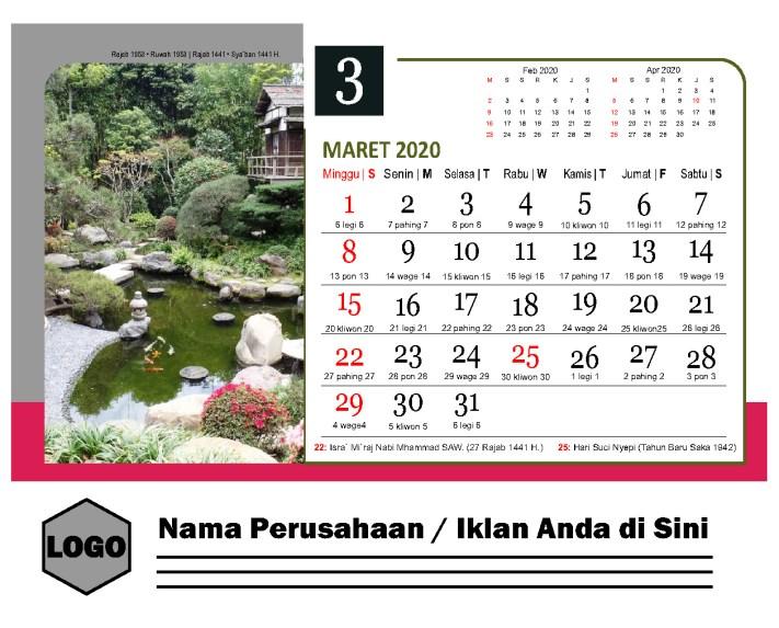 Master Kalender 2020 Free Download Taman Jepang PDF