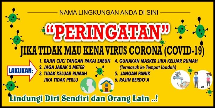 Banner Spanduk Covid-19 Corona Virus