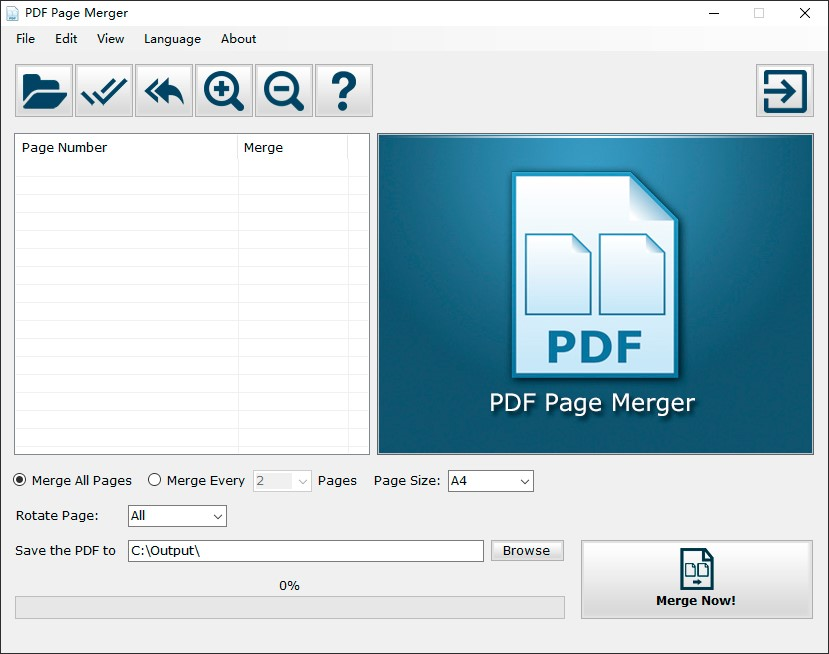 PDF Page Merger: Merge and Collage Multiple PDF Pages into One Single Page